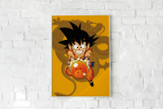 Quadro Infantil Dragon Ball - GOKU com Esfera do Dragão