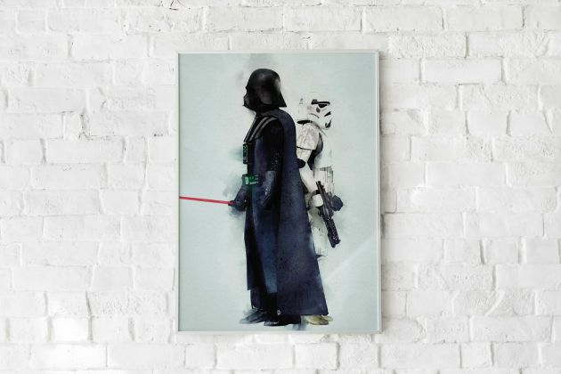Quadro Star Wars Darth Vader e Stormtrooper